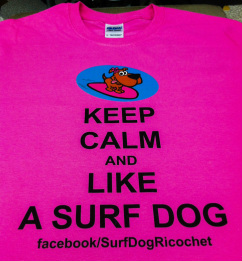 dogs surfing tshirt