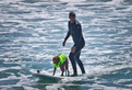 surf dogs with Cameron Mathison