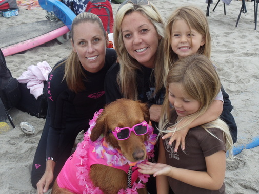 surf dogs with girls