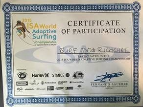 ISA World adaptive surfing championship dog