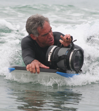 Camera man in water