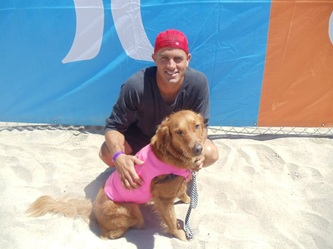 kelly slater and surf dog