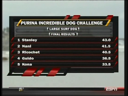 surf dog scoreboard