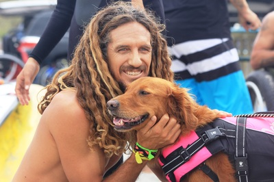 rob machado and surf dog ricochet